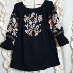 Free People Dresses - Free People Fleur Du Jour shift dress embroidered